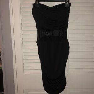 Black strapless mini dresses